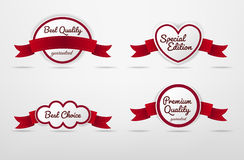 Set of Ribbon labels tag with Superior Quality text Stock Photos