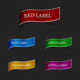 Set of ribbon labels Royalty Free Stock Photos