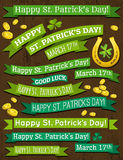 Set of ribbon for St. Patricks Day, vector Royalty Free Stock Images