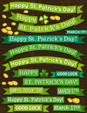 Set of ribbon for St. Patricks Day, vector Stock Photo