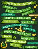 Set of ribbon for St. Patricks Day, vector Stock Images