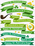Set of ribbon for St. Patricks Day, vector Royalty Free Stock Photos