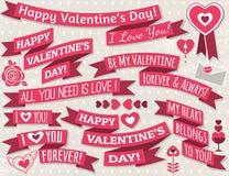 Set of ribbon valentines design, vector Royalty Free Stock Photos