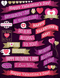 Set of ribbon valentines design, vector Royalty Free Stock Image