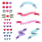 Set ribbon Royalty Free Stock Image
