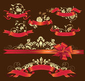 Set of Ribbons. Stock Photography