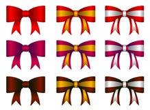 Set of  ribbons Royalty Free Stock Photos