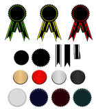 Set ribbons. Set of ribbons and stars (with elements for the further editing) (completely isolated on a white background Stock Illustration