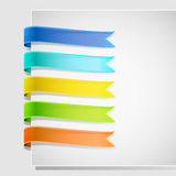 Set of ribbons Royalty Free Stock Photos