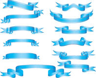 Set of ribbons Stock Images