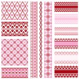Set of ribbons and backgrounds to valentine`s day Royalty Free Stock Photography