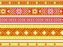 Set of ribbons with Baltic seamless ornament. Modern popular print. Vector image. Royalty Free Stock Image