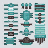 Set of ribbons, banners and badges in neoretro style. EPS10 Royalty Free Stock Photos