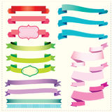 Set Ribbons and banners royalty free illustration