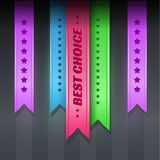Set of ribbons - best choice Stock Image