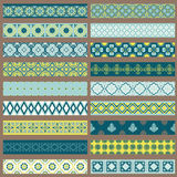 Set of Ribbons and Borders Royalty Free Stock Image