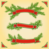 Set of Ribbons. A set of Christmas banners royalty free illustration