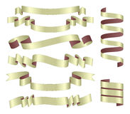 Set of  ribbons Stock Photo