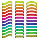 Set of  ribbons of different colors Stock Image