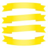 A set of ribbons. Royalty Free Stock Photos