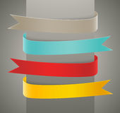 Set of ribbons Stock Image