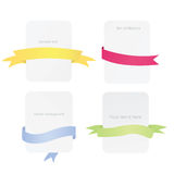Set of ribbons with frames Royalty Free Stock Photography