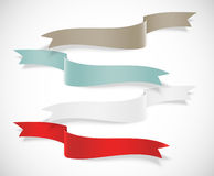 Set of ribbons Royalty Free Stock Images