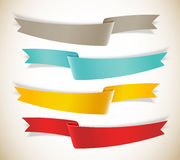 Set of ribbons Stock Image