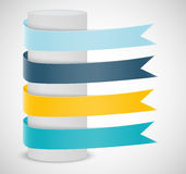 Set of ribbons. Infographic design Stock Photos