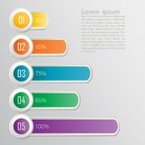 Set of ribbons. Infographic design Royalty Free Stock Photography