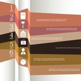 Set of ribbons. Infographic design Royalty Free Stock Images