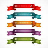Set of ribbons. Infographic design. Numbered banners. Stock Illustration