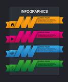 Set of ribbons. Infographic design,4 options Stock Image