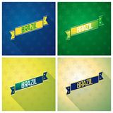 Set ribbons with inscription - Brazil Royalty Free Stock Image