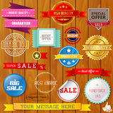 Set of ribbons and labels Royalty Free Stock Image
