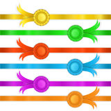 Set of ribbons, medals Royalty Free Stock Photography