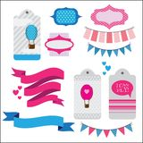 Set of ribbons and memory cards Royalty Free Stock Photo