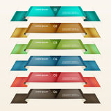 Set of ribbons.Modern infographics options banner. Vector illustration Stock Photography