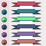 Set of Ribbons. With a palette Stock Image