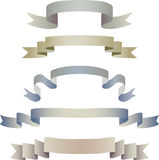 Set of ribbons in pastel colors Stock Photo