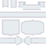 Set of ribbons with seams. Template for your text stock illustration