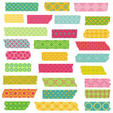 Set of Ribbons and Stickers Stock Photo