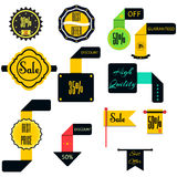 Set of Ribbons, Stickers, Labels.Vector. Set of labels with discounts Stock Photos