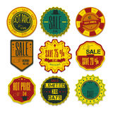 Set of Ribbons, Stickers, Labels. Vector.Set of Ribbons, Sticker Stock Photography