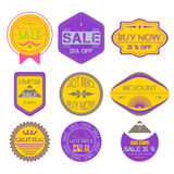 Set of Ribbons, Stickers, Labels. Vector.Set of Ribbons, Sticker Stock Photo