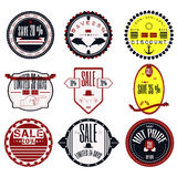 Set of Ribbons, Stickers, Labels. Vector.Set of Ribbons, Sticker Stock Images