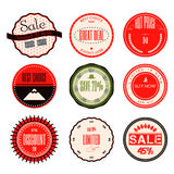 Set of Ribbons, Stickers, Labels. Vector.Set of Ribbons, Sticker Royalty Free Stock Image
