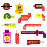 Set of Ribbons, Stickers, Labels. Vector.Set of Ribbons, Sticker. Set of vector label and ribbons Stock Photo