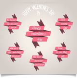 Set of ribbons for Valentines Day Royalty Free Stock Photo