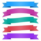 A set of ribbons. Stock Photography